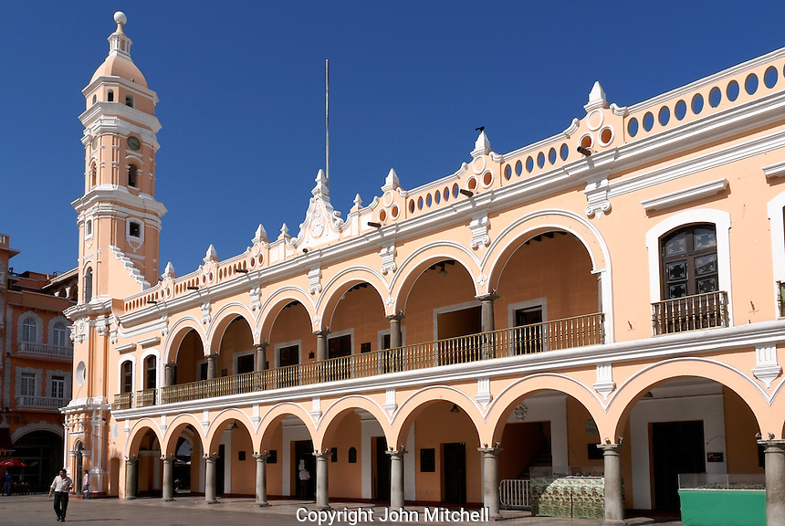 The Palacio Municipal or Government Palace on the Zocalo or Plaza de Armas in the city of Veracruz, Mexico