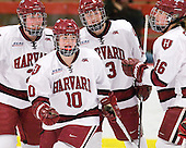 Josephine Pucci (Harvard - 2), Gina McDonald (Harvard - 10), Liza Ryabkina (Harvard - 3), Marissa Gedman (Harvard - 16) - The Harvard University Crimson defeated the St. Lawrence University Saints 8-3 (EN) to win their ECAC Quarterfinals on Saturday, February 26, 2011, at Bright Hockey Center in Cambridge, Massachusetts.