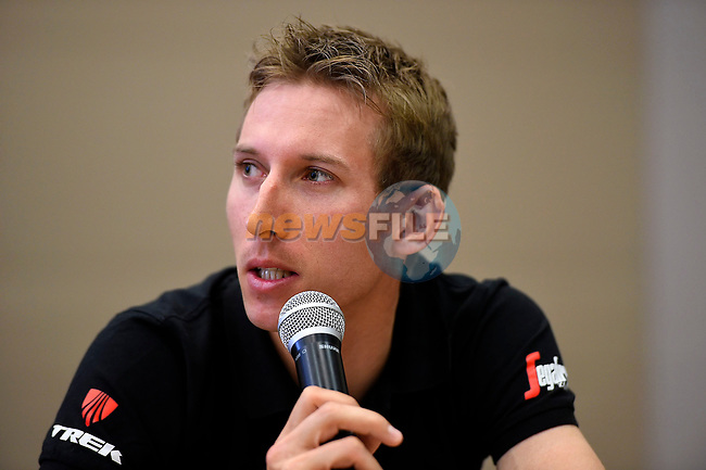 Bauke Mollema (NED) Trek-Segafredo at the top riders press conference on the eve of the race of the two seas, 52nd Tirreno-Adriatico by NamedSport running from the 8th to 14th March, Italy. 7th March 2017.<br /> Picture: La Presse/Fabio Ferrari | Cyclefile<br /> <br /> <br /> All photos usage must carry mandatory copyright credit (&copy; Cyclefile | La Presse)