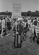 28 Jun 1970; Manhattan; New York City; New York State; USA. First Gay Parade was held in New York City. The gay church was well represented at the parade.