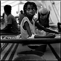 Luanda, Angola, May 21, 2006.Jurami, 11, is a patient at the Cazenga MSF operated cholera field clinic. Between February and June 2006, more than 30000 people were infected with cholera in Angola's worse outbreak ever; more than 1300 died.