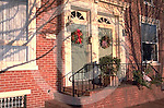 Harrisburg, PA, Historic Shipoke, Door Wreaths,  Street Scape
