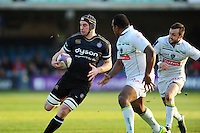 Paul Grant of Bath Rugby in possession. European Rugby Challenge Cup match, between Bath Rugby and Pau (Section Paloise) on January 21, 2017 at the Recreation Ground in Bath, England. Photo by: Patrick Khachfe / Onside Images