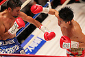 (L to R) , Juan Hernandez (Mex), Kazuto Ioka (JPN), AUGUST 10, 2011 - Boxing : Kazuto Ioka of Japan in action against Juan Hernandez of Mexico during the WBC Minimum weight title bout at Korakuen Hall, Tokyo, Japan. Kazuto Ioka of Japan ..won the fight on points after twelve rounds. (Photo by Yusuke Nakanishi/AFLO) [1090]