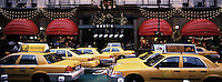 """Out takes from """"The Harvard Design School Guide to Shopping"""" published by Tashen. Taxis in front of Macy's during the thanks giving weekend christmas shopping madnesss."""