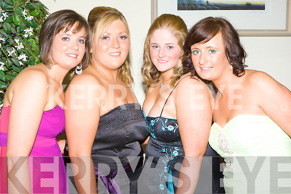 Pictured at the Kerry General Hospital Nurses Ball at the Ballyroe Hotel on Thursday night were Triona Moriarty, Mary O'Brien, Michelle Duggan and Ai?ne Egan.
