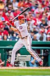 3 April 2017: Washington Nationals shortstop Trea Turner in action against the Miami Marlins on Opening Day at Nationals Park in Washington, DC. The Nationals defeated the Marlins 4-2 to open the 2017 MLB Season. Mandatory Credit: Ed Wolfstein Photo *** RAW (NEF) Image File Available ***