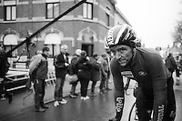 an exhausted &amp; dirty Jasper de Buyst (BEL/Lotto-Soudal) rolling in after finishing<br /> <br /> GP Le Samyn 2017 (1.1)