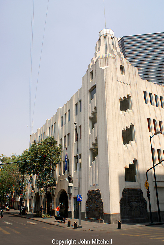 Art Deco building that houses the Museum of Popular Art, Mexico City. The Museo de Arte Popular, which opened in 2006, showcases folk art from all over Mexico.