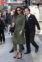 NEW YORK, NY April .18, 2017 Shay Mitchell at Good Morning America  to  talk about final season of Pretty Little Liars in New York April 18,  2017. <br /> CAP/MPI/RW<br /> &copy;RW/MPI/Capital Pictures