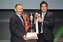 L to R   Eddie Jones head coach (SUNTORY), Juntaro Takemoto (SUNTORY), .February 27, 2012 - Rugby : .Japan Rugby Top League 2011-2012 Awards Ceremony .at Tokyo International Forum, Tokyo, Japan. .(Photo by Daiju Kitamura/AFLO SPORT) [1045].