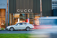 Gucci, El Paseo, Palm Desert, CA, Unique Clothing Apparel-Accessories, Boutique; famous; retailers; fashion; haute couture; shopping Coachella Valley; Desert;