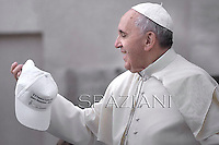 Pope Francis during his weekly general audience in St. Peter square at the Vatican, Wednesday.9 October  2013