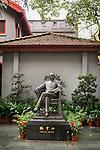 Sun Yat-sen statue at a museum in Shanghai, China