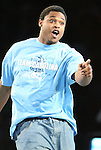 "13 October 2006: UNC's William Graves. The University of North Carolina at Chapel Hill Tarheels held their first Men's and Women's basketball practices of the season as part of ""Late Night with Roy Williams"" at the Dean E. Smith Center in Chapel Hill, North Carolina."