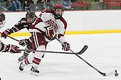 Tyler Wood (Brown - 5), Alexander Kerfoot (Harvard - 14) - The visiting Brown University Bears defeated the Harvard University Crimson 2-0 on Saturday, February 22, 2014 at the Bright-Landry Hockey Center in Cambridge, Massachusetts.