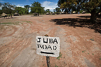 The road to Juba, in Tali Payam 175 km north of Juba. Central Equatoria, South Sudan.