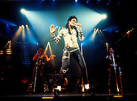 Michael Jackson performs at a sold out show at the Los Angeles Sports Arena Sunday Nov. 13, 1988 on the first night of his six show run at the Sports Arena. (Alan Greth)