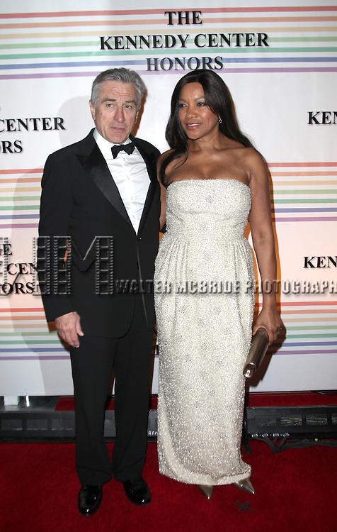 Robert Deniro & Grace Hightower.arriving for the 34th Kennedy Center Honors Presentation at Kennedy Center in Washington, D.C. on December 4, 2011