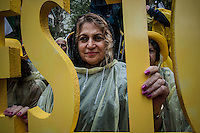 New York City, NY, 25 September 2014 Protest Iranian Americans supporters of the main Iranian opposition group against the regime's President Hassan Rouhani, during the 69th United Nations General Assembly at United Nations Headquarters.  Photo by Joana Toro VIEWpress.