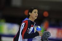 SCHAATSEN: HEERENVEEN: IJsstadion Thialf, 08-02-15, World Cup, 1000m Ladies Division A, winner Brittany Bowe (USA), ©foto Martin de Jong