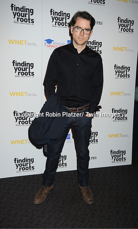 "actor Christian Campbell attends the PBS""s Finding Your Roots with Henry Louis Gates, Jr  Premiere screening   at The Allen Room at Frederick P Rose Hall in New York City on March 19, 2012."