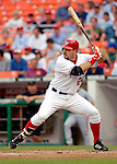 13 June 2006: Nick Johnson, first baseman for the Washington Nationals, at bat against the Colorado Rockies at RFK Stadium, in Washington, DC. The Rockies defeated the Nationals 9-2 in the second game of the four-game series...Mandatory Photo Credit: Ed Wolfstein Photo..