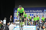 Cannondale-Drapac Team presented to the crowd before the start of the 60th edition of the Record Bank E3 Harelbeke 2017, Flanders, Belgium. 24th March 2017.<br /> Picture: Eoin Clarke | Cyclefile<br /> <br /> <br /> All photos usage must carry mandatory copyright credit (&copy; Cyclefile | Eoin Clarke)