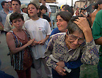 1/26/98 AL DIAZ/MIAMI HERALD--Pastora Torres Santos cries for her dead nephew, Oscar Alejandro Herrera, 24, uncovered in the rubble of his home after earthquake in Armenia, Colombia.