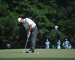 Harrison Frazar putts on the 17th hole at the PGA FedEx St. Jude Classic at TPC Southwind in Memphis, Tenn. on Sunday, June 12, 2011. Harrison Frazar won the tournament on the third playoff hole against Robert Karlsson. The victory was Frazar's first ever on the PGA tour.