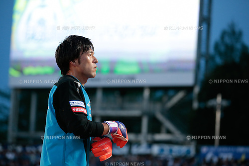 Yosuke Fujigaya (Gamba), <br /> APRIL 18, 2015 - Football /Soccer : <br /> 2015 J1 League 1st stage match <br /> between Shonan Bellmare 0-2 Gamba Osaka <br /> at Shonan BMW Stadium Hiratsuka, Kanagawa, Japan. <br /> (Photo by AFLO SPORT)