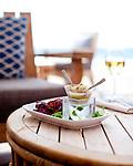 The Four Seasons Resort Hualalai at Historic Kaupulehu on the Big Island of Hawaii. Chef Nick's Ceviche at the Beach Tree Restaurant.