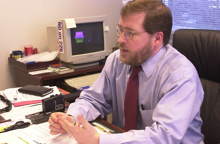 RC20000317-011-IW: March 17, 2000: Americans for Tax Reform President Grover Norquist in his L St. office.                Ian Wagreich/Roll Call