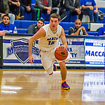 22 November 2015: Yeshiva University Maccabee Guard Jordan Hod, a Junior from Teaneck, NJ, leads a second half rush up court against the Hunter College Hawks at the Max Stern Athletic Center  in New York, NY. The Maccabees defeated the Hawks 81-71 in non-conference play, for their second win of the season. Mandatory Credit: Ed Wolfstein Photo *** RAW (NEF) Image File Available ***