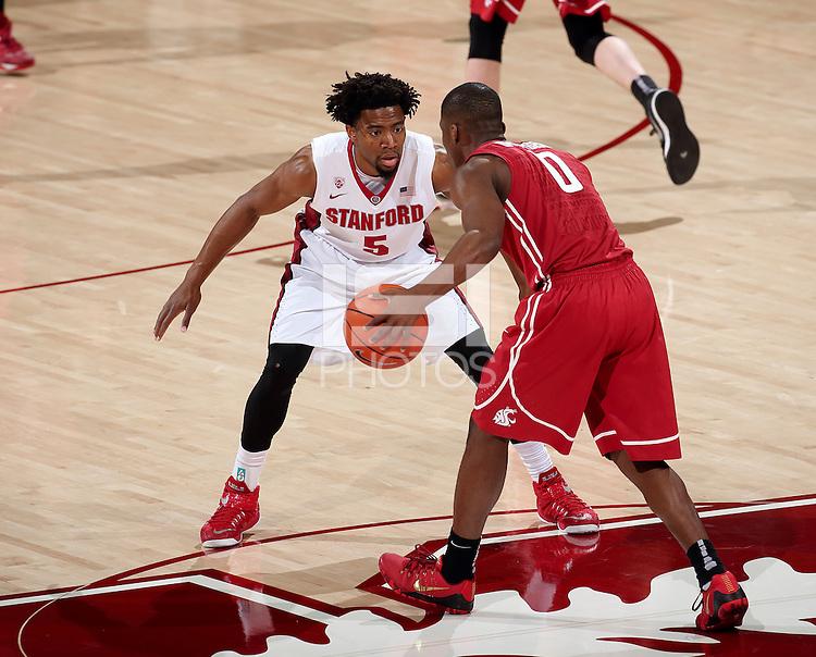 Stanford, CA; Friday January 2, 2015; Men's Basketball, Stanford vs Washington State.