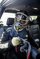 Jun 6, 2016; Epping , NH, USA; NHRA top fuel driver Tony Schumacher during the New England Nationals at New England Dragway. Mandatory Credit: Mark J. Rebilas-USA TODAY Sports