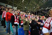 DFB Pokal 2011/12 2. Hauptrunde RasenBallsport Leipzig - FC Augsburg RB Fans.