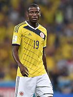 FUSSBALL WM 2014                ACHTELFINALE Kolumbien - Uruguay                  28.06.2014 Adrian Ramos (Kolumbien)