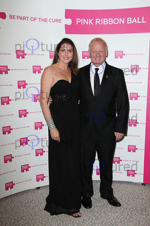 Les Dennis; Claire Nicholson The Pink Ribbon Ball, Dorchester Hotel, London, UK. 08 October 2011. Contact: Rich@Piqtured.com +44(0)7941 079620 (Picture by Richard Goldschmidt)