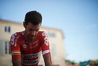 Greg Henderson (NZL/Lotto-Soudal) warming up for the TT<br /> <br /> stage 13 (ITT): Bourg-Saint-Andeol - Le Caverne de Pont (37.5km)<br /> 103rd Tour de France 2016