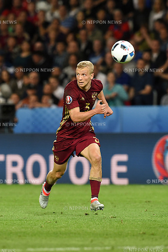 Igor Smolnikov (Russia) ; <br /> June 15, 2016 - Football : Uefa Euro France 2016, Group B, Russia 1-2 Slovakia at Stade Pierre Mauroy, Lille Metropole, France.; ;(Photo by aicfoto/AFLO)