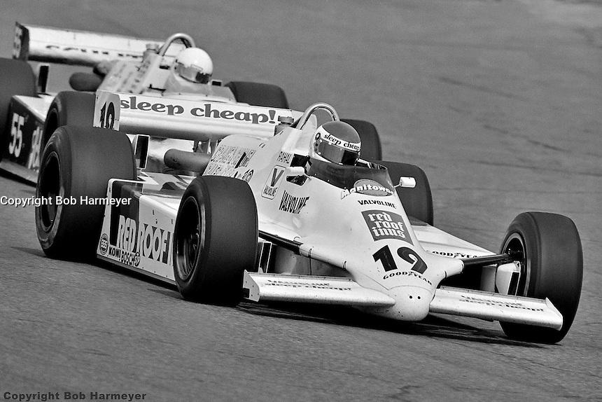 PHOENIX, AZ - MARCH 28: Bobby Rahal drives a March 82C/Cosworth in his first IndyCar race on March 28, 1982, at Phoenix International Raceway near Phoenix, Arizona.