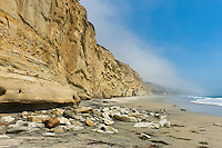 Beautiful and spacious beach in the San Diego vicinity of Southern California.