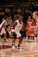 23 November 2005: Eziamaka Okafor during Stanford's 89-67 win over Fresno State at Maples Pavilion in Stanford, CA.