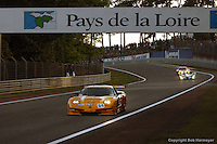 LE MANS, FRANCE: The Chevrolet Corvette C5-R 004 of Andy Pilgrim, Kelly Collins and Franck Fréon is driven during practice for the 24 Hours of Le Mans on June 16, 2002, at Circuit de la Sarthe in Le Mans, France.