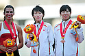 (L to R) Taslakian Gretta (LIB), Chisato Fukushima (JPN), Saori Imai (JPN),..JULY 10, 2011 - Athletics :The 19th Asian Athletics Championships Hyogo/Kobe, Women's 200m Final at Kobe Sports Park Stadium, Hyogo ,Japan. (Photo by Jun Tsukida/AFLO SPORT) [0003]