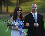 Chene'e Olmstead is escorted by Brad Olmstead during Homecoming ceremonies before the Water Valley vs. J.Z. George football game in Water Valley, Miss. on Friday, September 10, 2010.