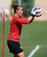 Jill Loyden. The USWNT practice at WakeMed Soccer Park in preparation for their game with Japan.