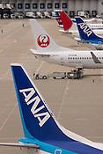 Aircraft at the Nagoya Centrair International Airport.