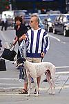 Man & Great Dane In Boston